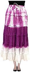 COTTON BREEZE Women's Cotton Skirt (Purple)