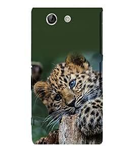 printtech Leopard Cub Cute Back Case Cover for Sony Xperia Z4 Mini::Sony Xperia Z4 Compact