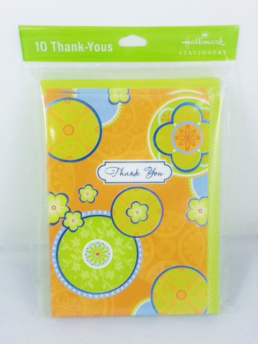 Hallmark Stationery 10 Thank You Cards - 2 Packs (Orange Floral) front-283602