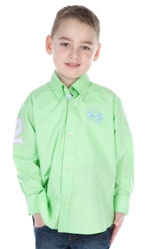 La Martina - Camicia - Maniche lunghe  - ragazzo grüne Apfel 6 anni
