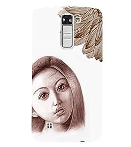 PrintVisa Stylish Cool Girl Sad Sketch 3D Hard Polycarbonate Designer Back Case Cover for LG K7