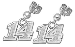 LogoArt Tony Stewart Sterling Silver 5 16 Number Post Ball and Dangle Earrings - Tony... by Logo Art