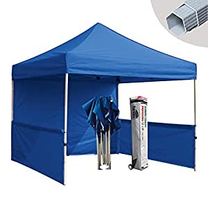 eurmax premium 10 x 10 pop up party tent wedding canopy gazebo with sidewall and. Black Bedroom Furniture Sets. Home Design Ideas