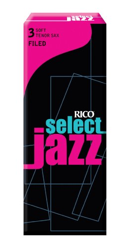 Rico Select Jazz Tenor Sax Reeds, Filed, Strength