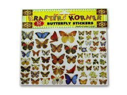 New - Butterfly stickers - Case of 48 by bulk buys