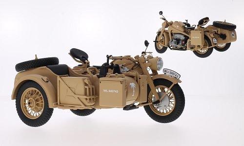Zndapp-KS-750-Afrikakorps-Modellauto-Fertigmodell-Schuco-110
