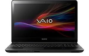 Sony VAIO SVF1521A6EB 39,5 cm (15,5 Zoll) Notebook (Intel Pentium 2117U, 1,8GHz, 4GB RAM, 500GB HDD, Intel HD, DVD, Win 8) schwarz