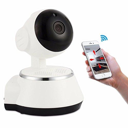 M.Way Caméra de Sécurité IP 720P HD WiFi Système de Surveillance Caméra Extérieure/Intérieur IP sans fil Enregistrement Vidéo et Reconnaissance Sonore, Détection à Distance de Mouvements