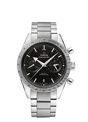 Omega Speedmaster 57 Chronograph Automatic Black Dial Stainless Steel Mens Watch 33110425101002 (Omega Skeleton compare prices)