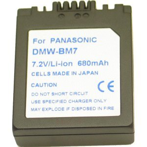 Power Li-Ion Akku Typ DMW-BM7 (kein Original) für Panasonic Lumix DMC-FZ5PP SV-AS10T SV-AS10W Lumix DMC-C20
