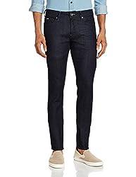 Gas Men's Sax Zip Skinny Jeans (8056775102892_71865WK08_36W x 32L_Blue)
