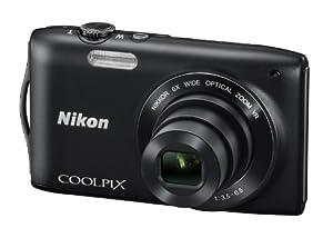 Nikon Coolpix S3300 Digitalkamera (16 Megapixel, 6-fach opt. Zoom, 6,7 cm (2,7 Zoll) Display, bildstabilisiert) schwarz