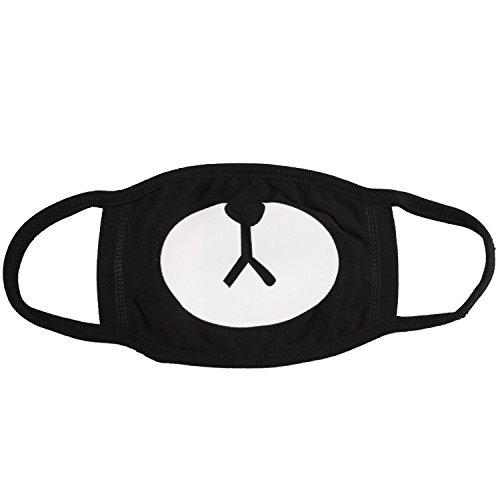 MASK 黒マスク,black マスク,ブラックマスク,韓国マスク,ファッションマスク,EXO,2PM,2AM,テギョン,チャニョル,クマ,猫,クママスク (0213-1)