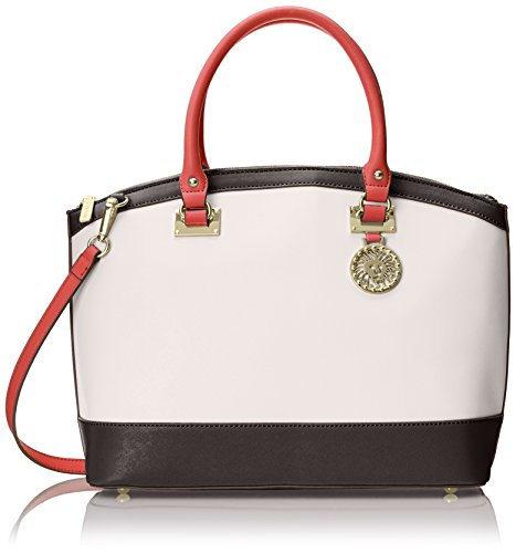Anne Klein New Recruits Dome Satchel Top Handle Bag, White/Multi, One Size