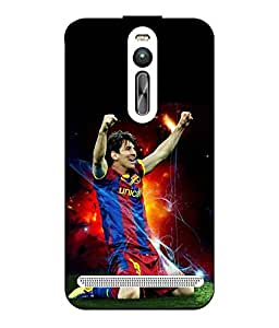 Case Cover Messi Printed Blue Hard Back Cover For Asus Zenfone 2