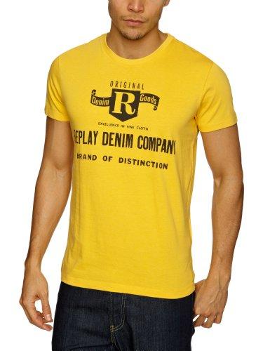 Replay M6018 Printed Men's T-Shirt Mustard XX-Large