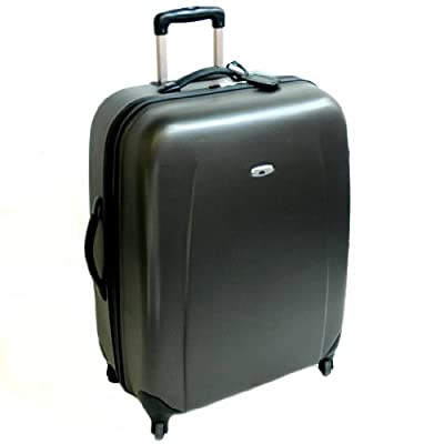 Borderline Extra Large 31 Inch Hard Sided 4 Spinner Wheels Trolley Case (Charcoal Grey)