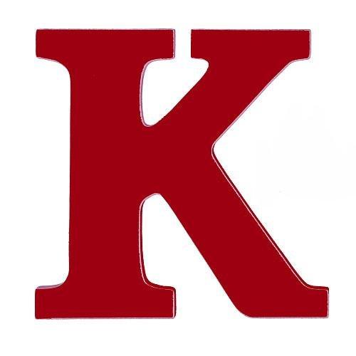 Kidkraft 8 Inch Wood Letter K Red