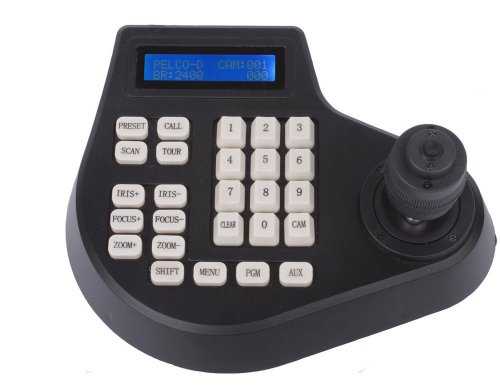 Riorand™ Cctv Joystick Keyboard Controller Lcd Display For Ptz Speed Dome Camera Control (Rr4D-Keyboard-Controller)