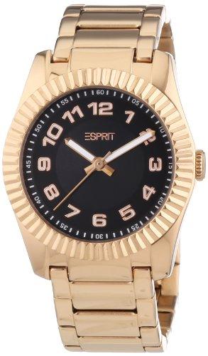 Esprit ES103582006 - Reloj analógico de cuarzo para hombre con correa de acero inoxidable, color dorado