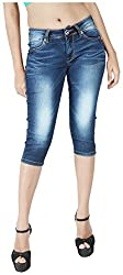 INTEGRITI Women's Slim Fit Capri (EXPLORE-LCP-104 EZYFT DEX_26, Blue, 26)