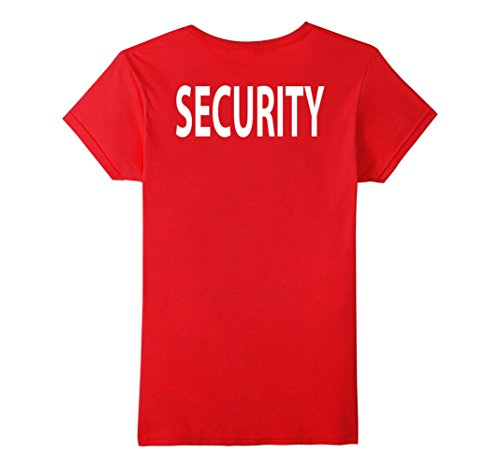 Security T Shirt Printed Front Back Black Or Red