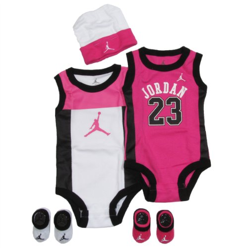 Jordan Baby set by Nike Perimeter for Boys and Girls Pink, 0-6 Months