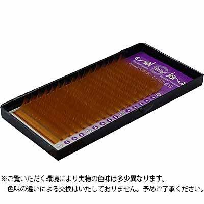 カラーエクステ シート ブラウン Cカール 11mm×0.15mm