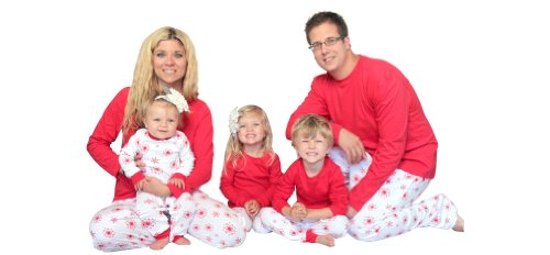 Snowflakes Knit Family Matching Loungesets By Sleepytimepjs (Men'S-Med, Red) front-884445