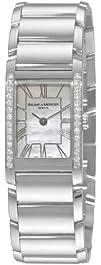 Baume   Mercier Womens 8748 Hampton Cuff Diamond Watch