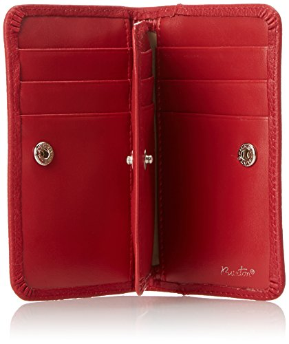 Buxton snap card case dark red one size apparel for Buxton business card case