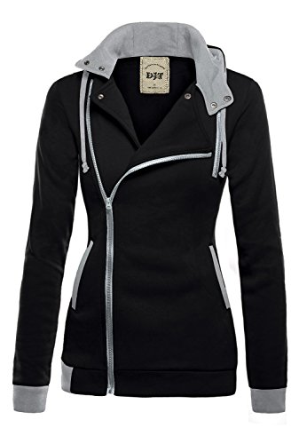 DJT-Womens-Oblique-Zipper-Slim-Fit-Hoodie-Jacket