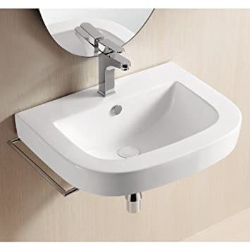Caracalla Caracalla CA40054-One Hole-637509835903 Ceramica II Collection Bathroom Sink, White