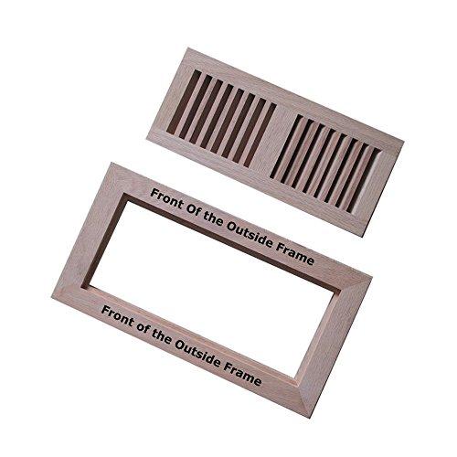Welland 4 inch x 12 inch hickory hardwood vent floor for 12 x 8 floor register