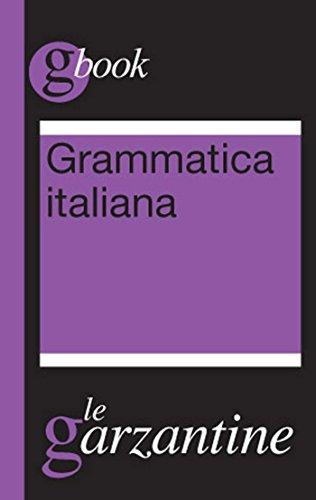 Grammatica italiana Garzantine gbook PDF
