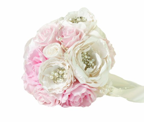 Lillian Rose Chic and Shabby Blush Bouquet, 6.5-Inch