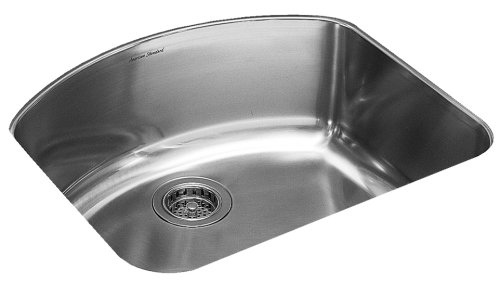 American Standard 7501.000.075 Culinaire 25-Inch Undercounter Mount Single Bowl Kitchen Sink, Stainless Steel