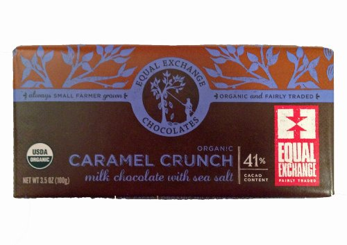 Equal Exchange Organic Milk Chocolae Caramel Crunch With Sea Salt (3.5 Oz. Bar) (1- 3.5 Oz. Bar)
