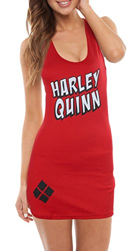 DC Comics Harley Quinn Cover Up Tank (Medium, Red)