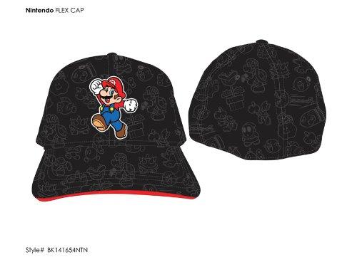 Nintendo Mario Walk Black Flex Cap