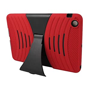 Eagle Cell Hybrid Skin Case with Stand for iPad mini with Retina Display - Red/Black (PAIPADMINI2B2BKRD) by Eagle Cell