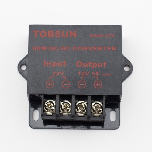 SINOLLC DC 24V to 12V 5A 60W Converter Step Down Regulator for Car Low Voltage Transformer (Voltage Regulator 5a compare prices)