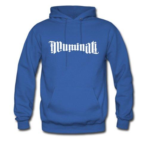 Spreadshirt Men's illuminati ambigram Hoodie, royal blue, M