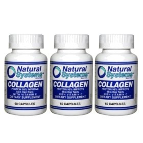 Natural Systems 3 Pack Collagen With Vitamin C 3X60 Capsules Skin Hair Nails