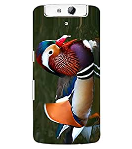 ColourCraft Beautiful Duck Design Back Case Cover for OPPO N1