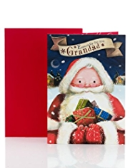 Grandad Santa Illustration Christmas Card