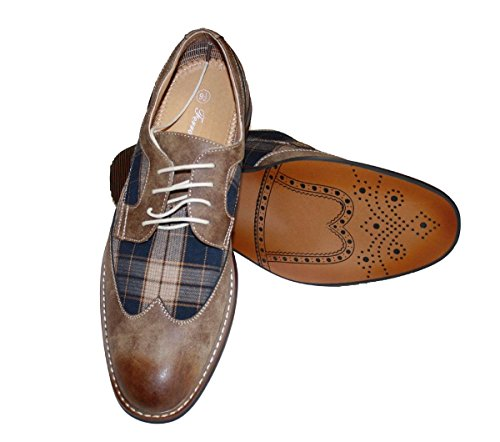 Ferro Aldo Lace Up Dress Brown Shoes Leather Lined Brand New Shoes Deli Aldo-19266A (Deli Shoes compare prices)