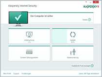 Kaspersky Internet Security 2015: Hauptmenü
