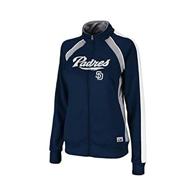 San Diego Padres Ladies Track Jacket Full Zip Great Play