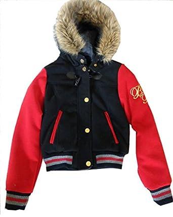 Amazon.com: Baby Phat Womens Wool Varisty Bomber Jacket